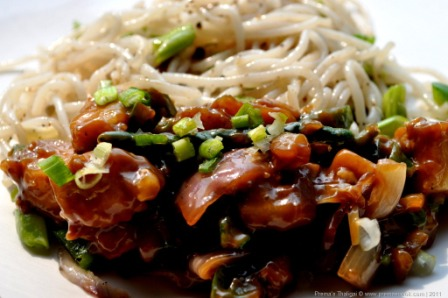 Coconut Paneer Chilli with Noodles