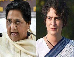 BSP chief #Mayawati's big attack on #PriyankaGandhi