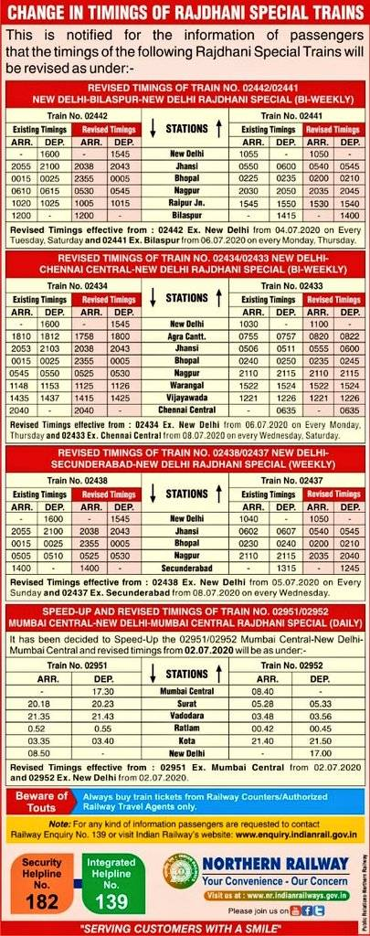 #IndianRailway: Time table of many trains changed, see list