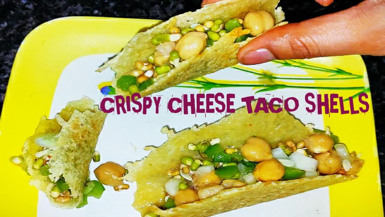 A new style of salad making #Crispy cheese taco shells