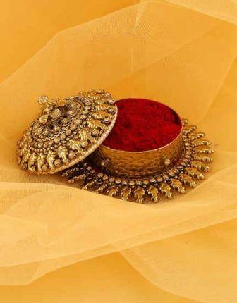 In Hinduism, vermilion has special importance, by using it like this ...