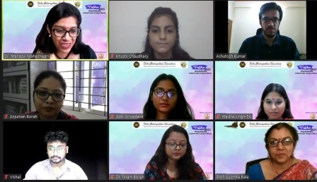 RJ Ankita of California enriched the students in Vrittika's radio workshop